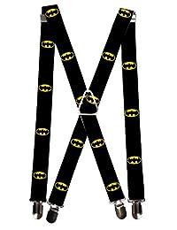 Buckle Down Men's Elastic DC Comics Batman Clip End Suspenders, Batman