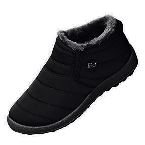 Orangetime Women's Winter Snow Ankle Boots-Comfort Warm Fur Lining Waterproof Outdoor Slip...