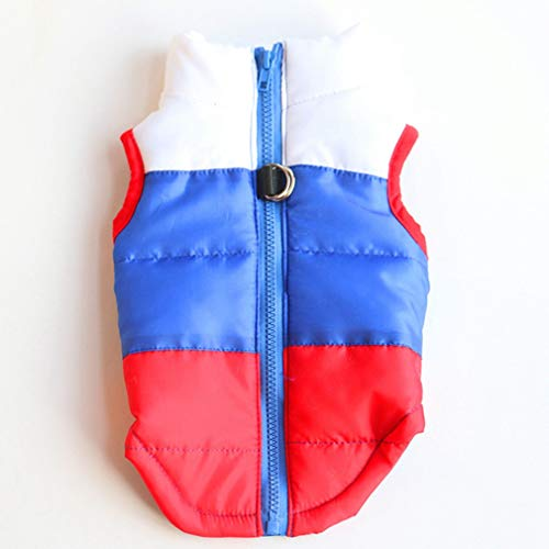 EBRICKON Pet Winter Cotton Clothes Dog Warm Waterproof Jacket Cold Weather Outdoor Snowproof Coat for Small Medium Large Dogs ()