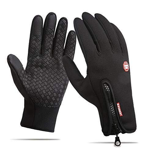 Lisianthus Winter Termal Gloves Touchscreen Waterproof for Men & Women Black XS