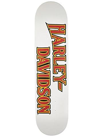 DARKSTAR Emboss Deck, White, Size 7.875 - Darkstar Skate Decks