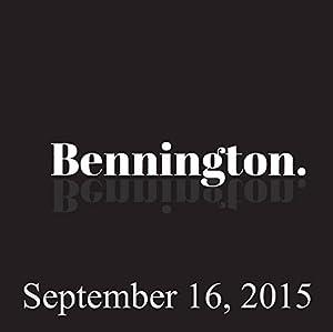 Bennington, Mark Normand, September 16, 2015 Radio/TV Program