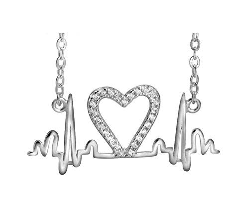 Stainless Gold Heartbeat Lifeline Bracelet - 3