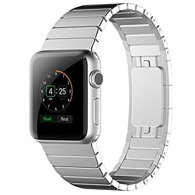 Apple Watch Band, ZoneYiLa® Stainless Steel Replacement Smart Watch Band Link Bracelet (Link Bracelet - Silver 38mm)