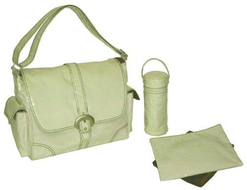 Kalencom Laminated Buckle Bag, Cream Corduroy