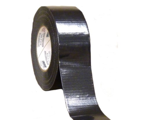 Black Color Duct Tape 2'' x 60 Yards 9 Mil Thick Adhesive Tapes 12 Rolls by PackagingSuppliesByMail (Image #1)