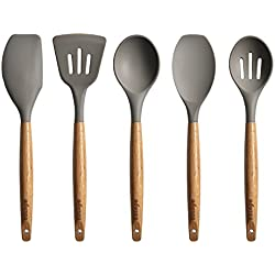 Cooking Utensil Set with Hard Wood Handle