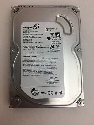 Seagate Pipeline HD ST3500414CS 500GB 5900RPM 16MB Cache SATA II 3.0Gb/s 3.5'' Internal Hard Drive (PC, RAID, NAS, CCTV DVR) [Certified Refurbished] -w/1 Year Warrany by Seagate