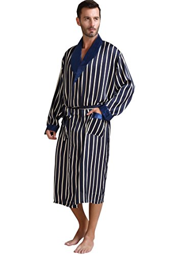Lonxu Satin Bathrobe Nightgown_Big Plus_Gifts