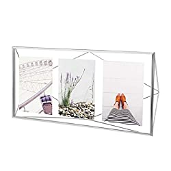Umbra Prisma Multi Picture Frame - Photo Display for Desk or Wall, Chrome