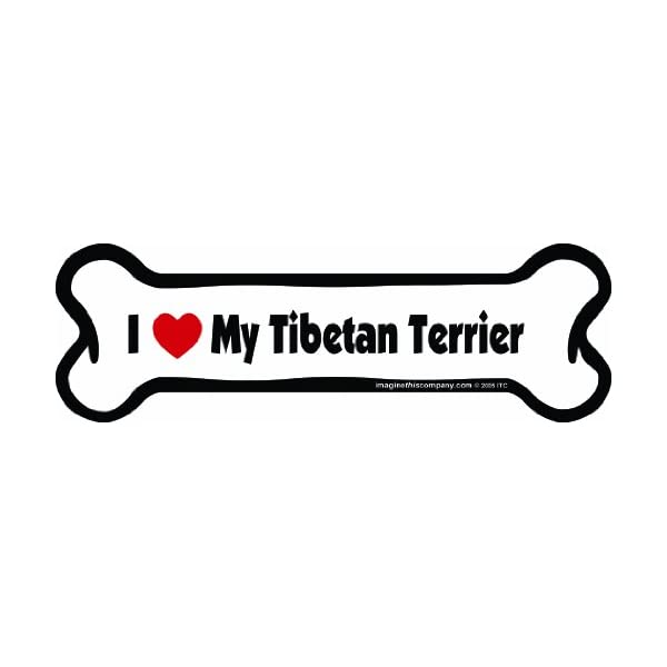 Imagine This Bone Car Magnet, I Love My Tibetan Terrier, 2-Inch by 7-Inch 1