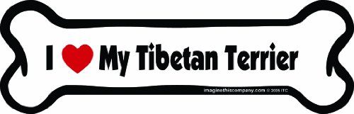 Imagine This Bone Car Magnet, I Love My Tibetan Terrier, 2-Inch by 7-Inch
