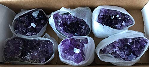 (1 pound Sparkly, Deep Purple, Amethyst clusters from Uruguay, 4-6 pieces, 2