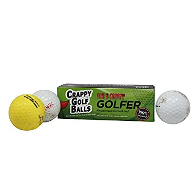 Crappy Golf Balls for a Crappy Golfer Gift Box Edition – Funny Gag Gifts for Golfers Guaranteed NOT to Improve Golf Game Includes 3 Golf Balls Novelty Golf Gifts Stocking Stuffers Novelty Golf Gift
