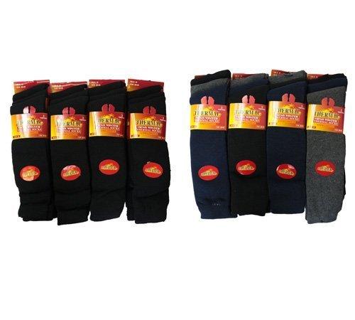 Lot de 6 longues paires de chaussettes thermiques pour homme Randonnée 8284fb1f1e3