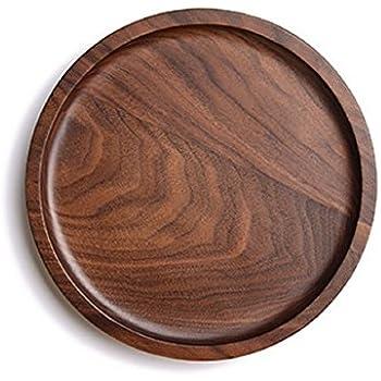 Wood Serving Tray Decorative Trays Dessert platesServing Platters for Tea Coffee Wine  sc 1 st  Amazon.com & Amazon.com | Wood Serving Tray Decorative Trays Dessert plates ...