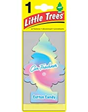 LITTLE TREES Car Air Freshener   Hanging Paper Tree for Home or Car   Cotton Candy   6 Pack