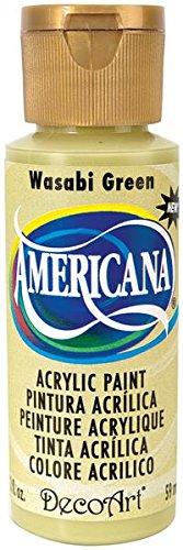 DecoArt Americana Acrylic Paint, 2-Ounce, Wasabi Green (Green Wasabi)