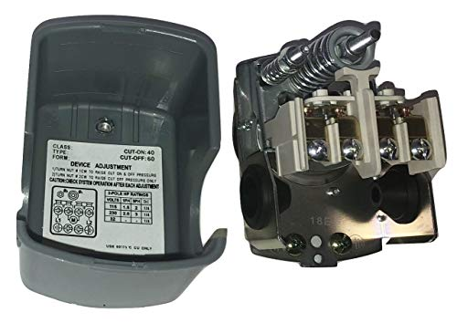 Well Water Pump Pressure Control Switch 40-60 PSI Double Spring Pole GW ()
