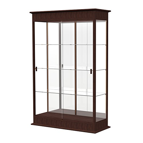 - Waddell Varsity Sliding Doors Lighted Display Case, 48W by 77H by 18