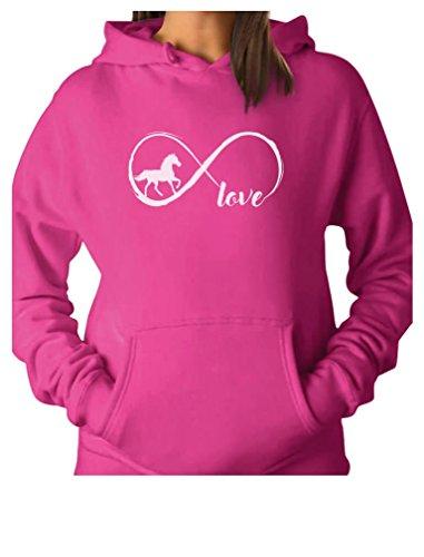 Rider Pink Sweatshirt - Gift for Horse Lover Infinite Love Women Horse Hoodie Small Pink