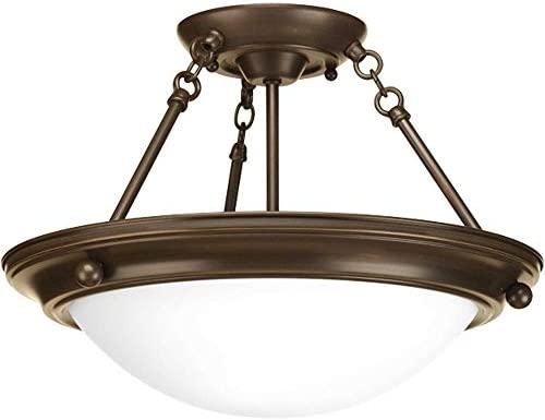 Progress Lighting P3483-20 Traditional Two Light Close-to-Ceiling from Eclipse Collection Dark Finish, Antique Bronze