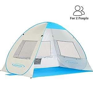 Amazon Com Zomake Pop Up Beach Tent 2 3 Person