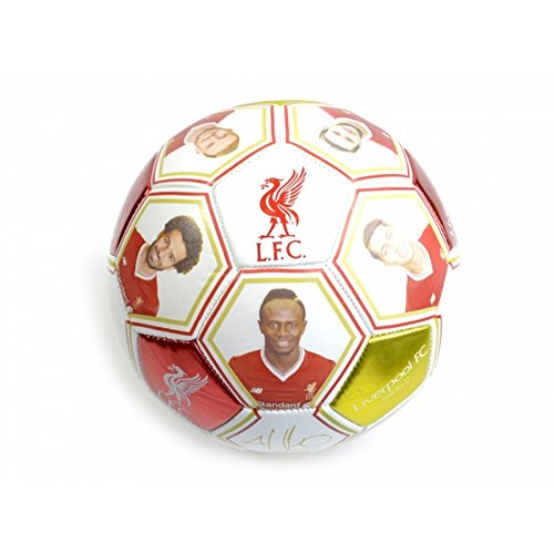 Liverpool FC Official Player Photo Soccer Ball 2018 (5) (White/Red) for $<!--$14.20-->