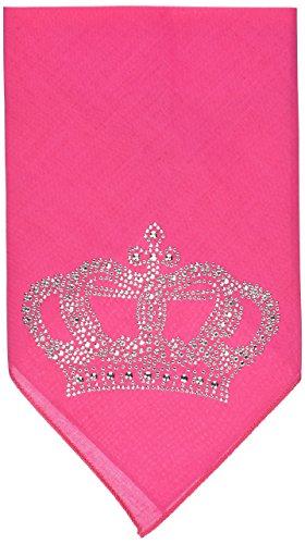 Mirage Pet Products Crown Rhinestone Bandana, Small, Bright Pink