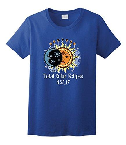 Solar Eclipse Glasses Kids Total Solar Eclipse 2017 Solar Eclipse Viewing Ladies T-Shirt Medium Royal
