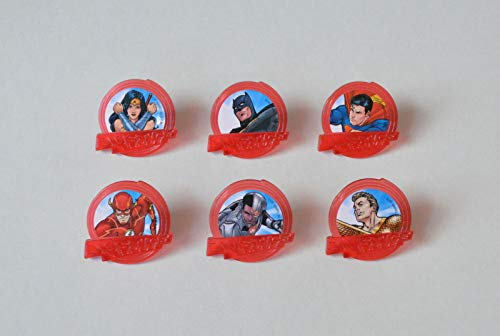12 DC Comics Justice League Cup Cake Rings Topper Party Goody Bag Favor Supply -
