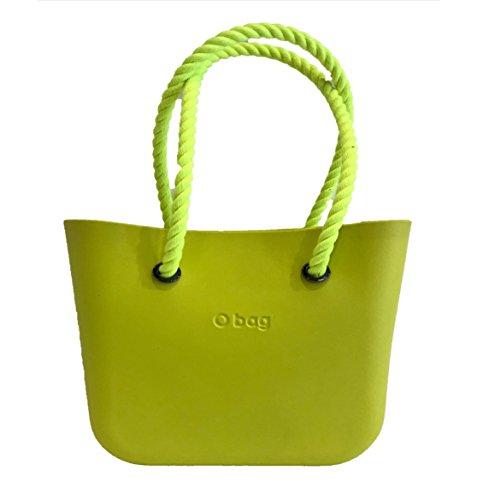 O Bag Mini Lime + Manici lunghi corda Giallo + Sacca bianca