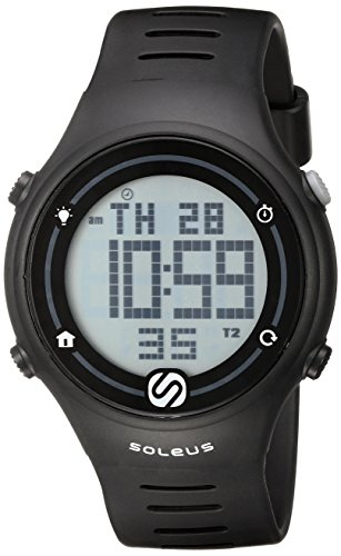 Soleus Unisex SR022-001 Sprint Digital Display Quartz Black Watch Soleus