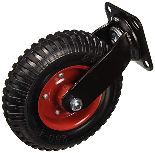 (POWERTEC 17051 Swivel Heavy Duty Industrial Caster, 8-inch, Black)