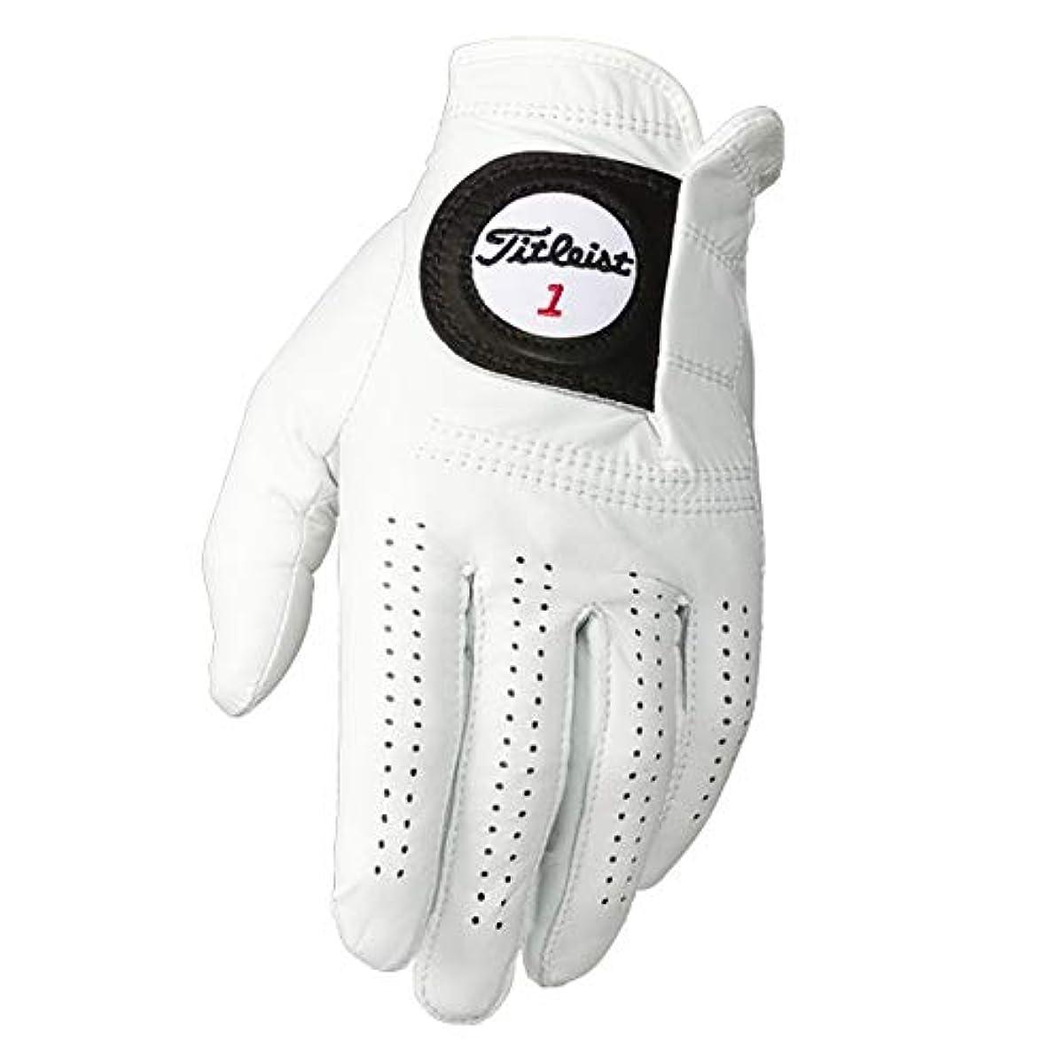 [해외] TITLEIST PLAYERS-FLEX 맨즈 CAD LH 펄 골프 글러브 왼손 착용 L 화이트