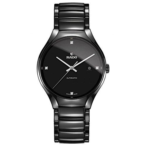 Rado R27056722 True Automatic Diamond Mens Watch - Black Dial