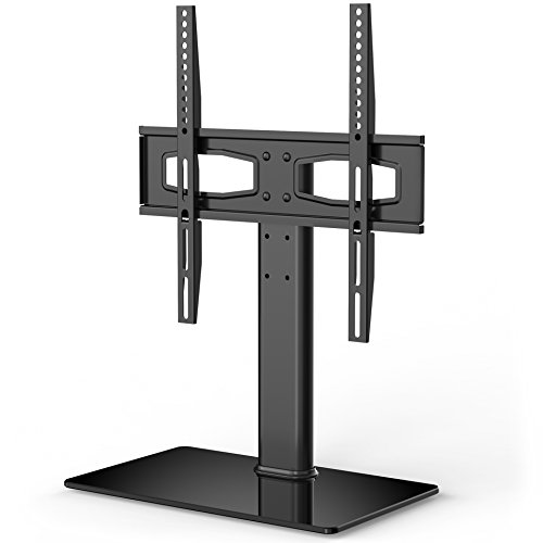 fitueyes universal tv stand base tabletop tv stand with mount for up to 55 inch flat screen tvs. Black Bedroom Furniture Sets. Home Design Ideas
