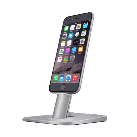 Spinido TI-SET Adjustable Charging Dock holder for iPhone 7/7Plus/SE/5/5s/6/6S Plus/iPad,Request Original Lightning Cable, Cables not included (Upscale (12 South Iphone 6 Plus Dock)