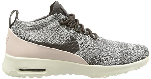 Nike Damen Air Max Thea Ultra Flyknit Grau (Midnight Fog/Siltstone Red/Sail/Midnight Fog)