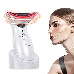 Ms.W Anti Aging Face Massager with Hot & Cold Modes for Wrinkles Appearance Removal and Skin Tightening, High Frequency…