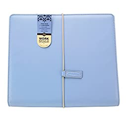 Wilson Jones WorkStyle Cut and Sewn Round Ring Binder, 1 Inch Capacity, Letter Size, Blue (W31805)