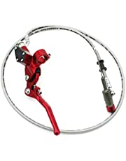 Race-Guy CNC Aluminum Red Clutch Handle Lever 7/8'' 22mm Mounting Hole 900mm Line Hydraulic Handle Clutch Lever Master Cylinder For XR CRF KLX SSR YCF IMR Atomik Thumpstar Taotao Coolster Roketa Lifan YX Dirt Bike Motocross Motorcycle