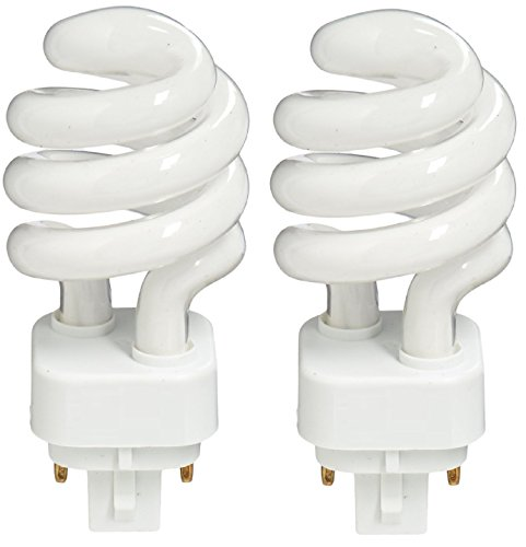 hite 2700K Color, 4 Pin Base Spiral Compact Fluorescent Light Bulb - Pack of 2 (4 Pin Bulb)
