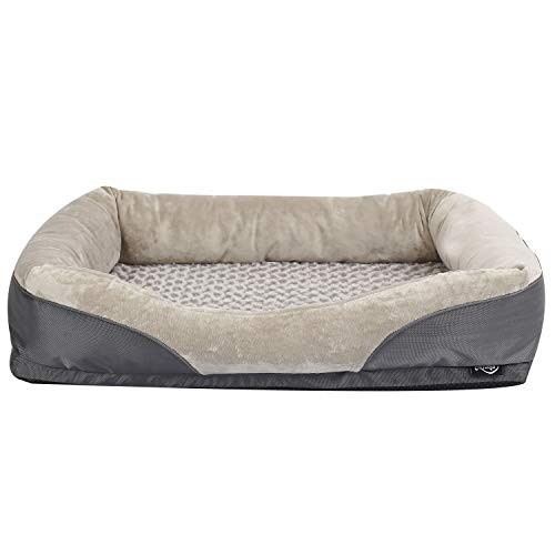 Niubya Orthopedic Dog Bed, Removable Washable Cover Memory Foam Dog Bed Pillows, Durable Water Proof Liner Pet Bed ()