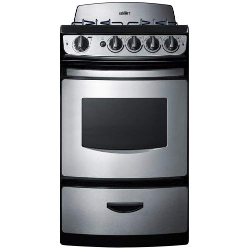 Summit PRO247SS 24 Inch Gas Freestanding Range in Stainless Steel