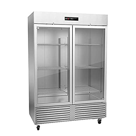 Phenomenal Amazon Com 56 Stainless Steel Reach In Freezer With Wire Interior Design Ideas Apansoteloinfo
