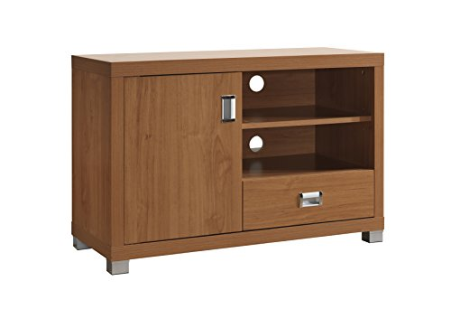 TV Stand with Storage. Color: Maple (Glass Maple Dresser)