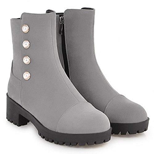 Block Women Boots Coolcept Ankle Comfort Gray Heel wCqxZvdE