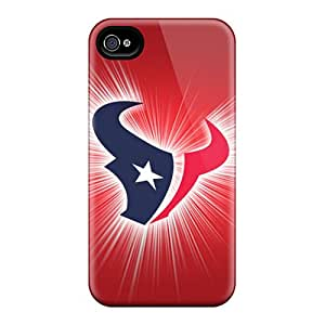 High Quality Mobile Covers For Apple Iphone 4/4s With Custom HD Houston Texans Image AshtonWells
