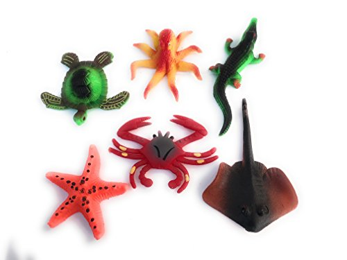 Path13 Magic Mega Megga Grow 600% Growth Aquatic Sea Beach Ocean Marine Creatures Animals Toys Bundle Value Pack (6 Pack)